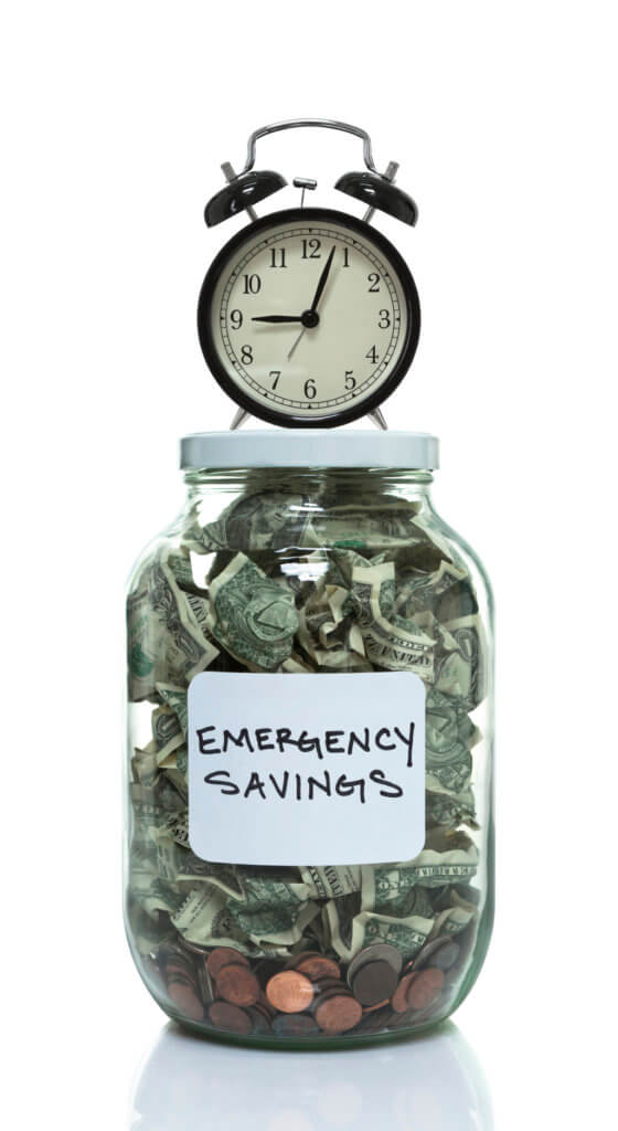 Establish an emergency savings fund to support debt free living in 2018