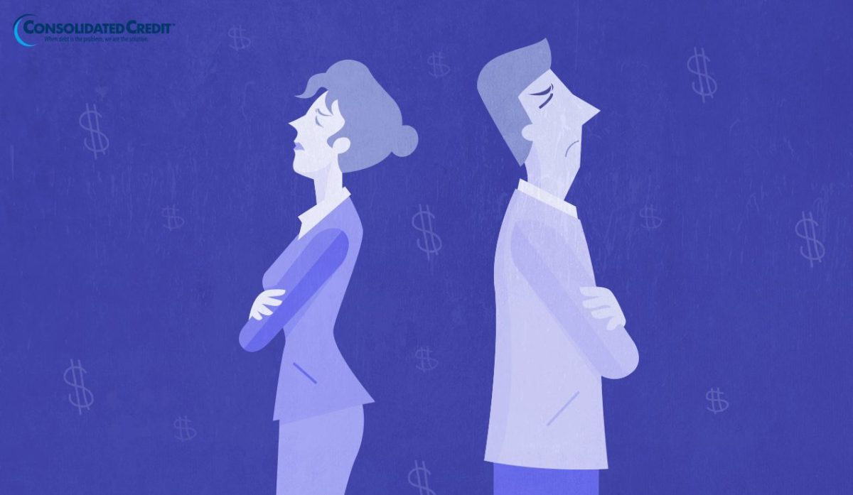 Financial infidelity illustration