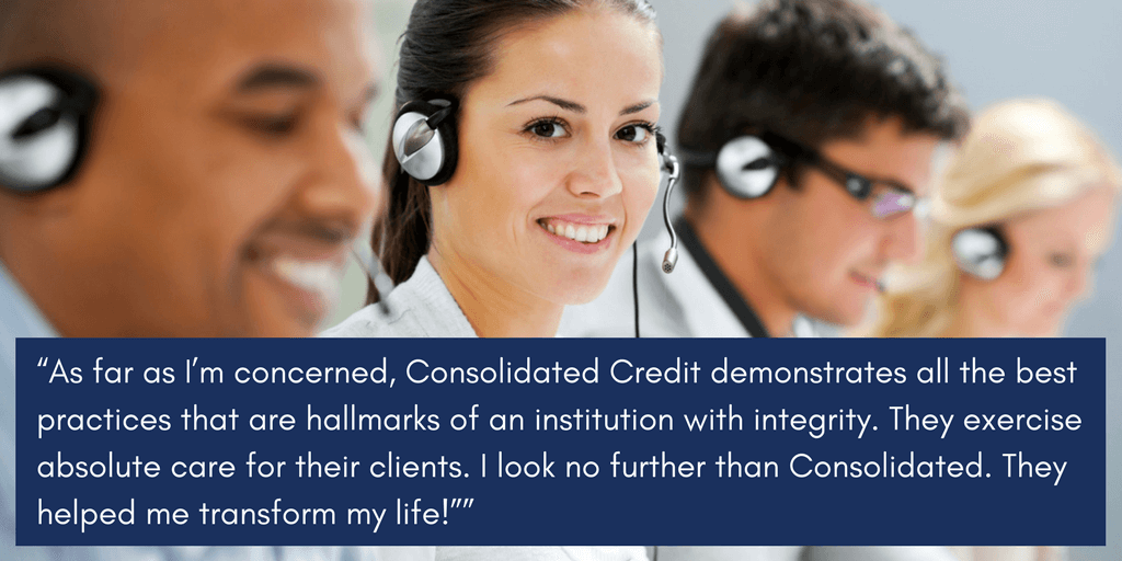 Walter explains Consolidated Credit's care and integrity
