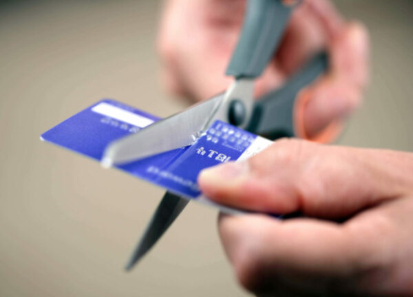 Cutting up a credit card