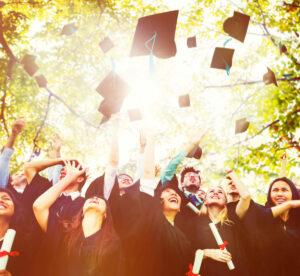 Students celebrate graudation