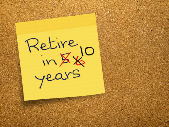 Debt delays retirement goals: Retire in 5 - No, 6- No, 10 years