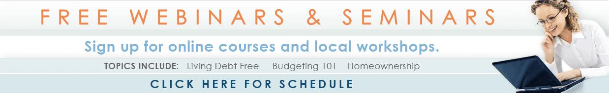 Sign up for upcoming webinars and seminars