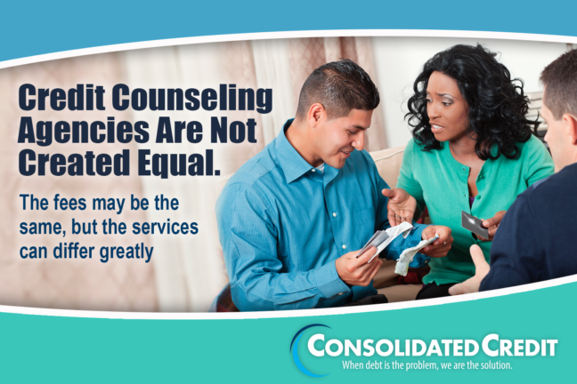 Credit counseling agencies are not created equal. The fees may be the same, but the services can differ greatly.