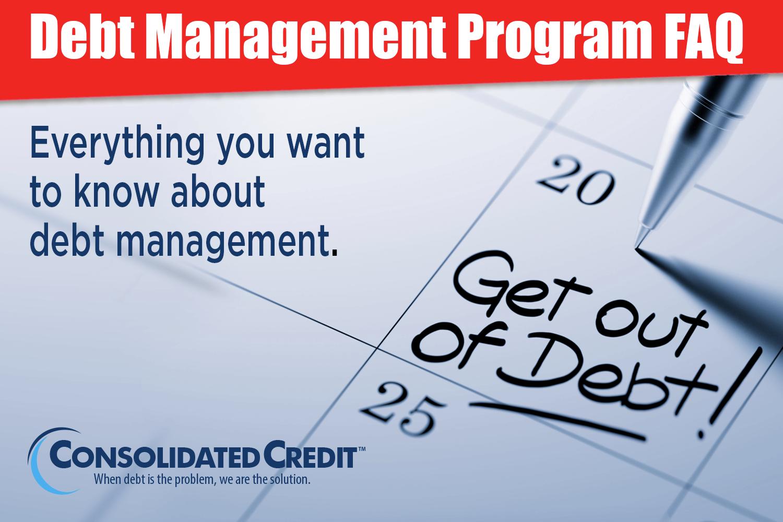 Debt Management Program Faq Consolidated Credit