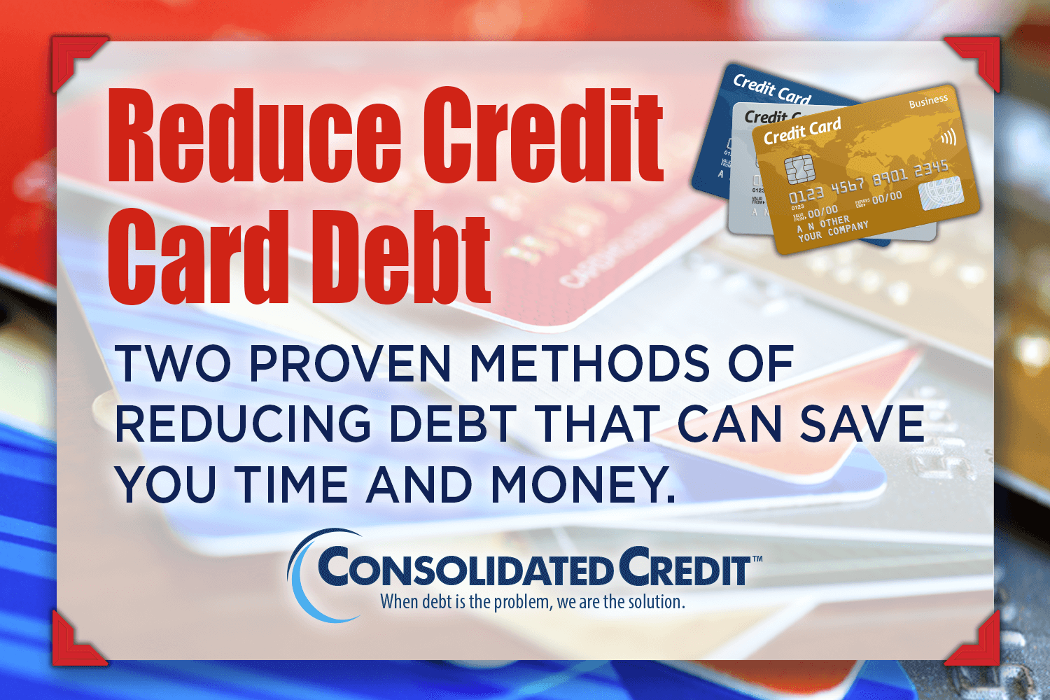 how to fix credit card debt