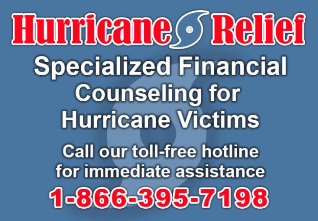 Hurricane Relief Banner 1-866-395-7198