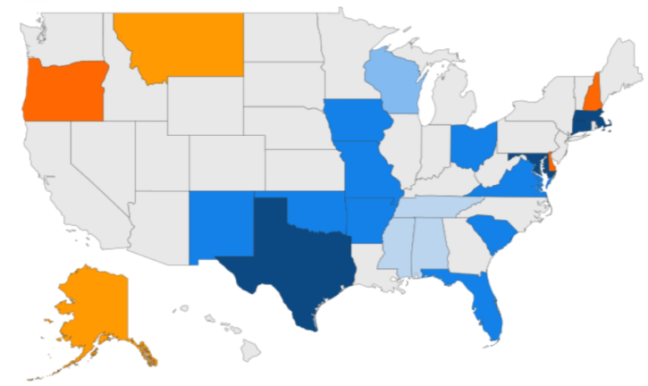 Tax free weekend map: Which states offer no sales tax