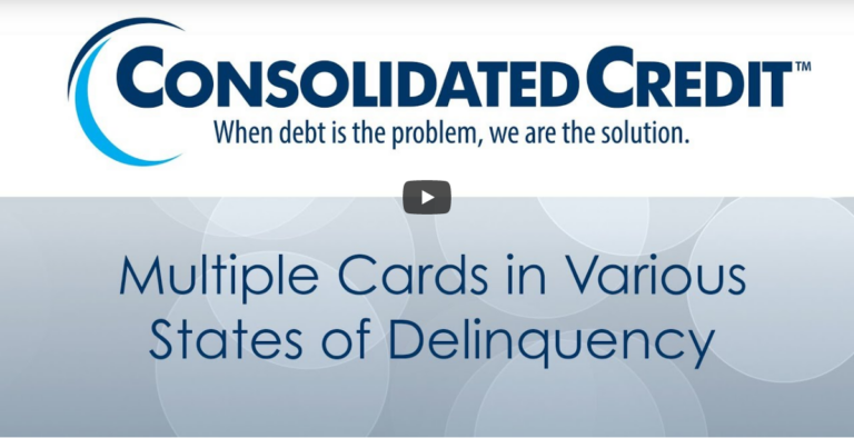 Multiple Credit Cards in Various States of Delinquency
