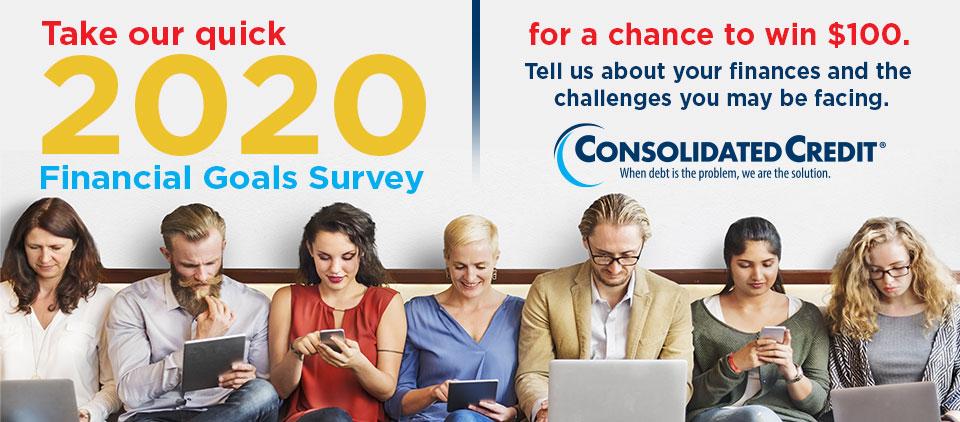 Take our quick 2020 Financial Goals Survey
