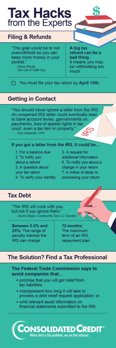 tax hacks webinar infographic