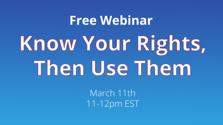 consumer rights webinar; know your rights, then use them