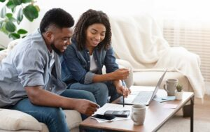 Couple organizes their finances for Financial Literacy Month