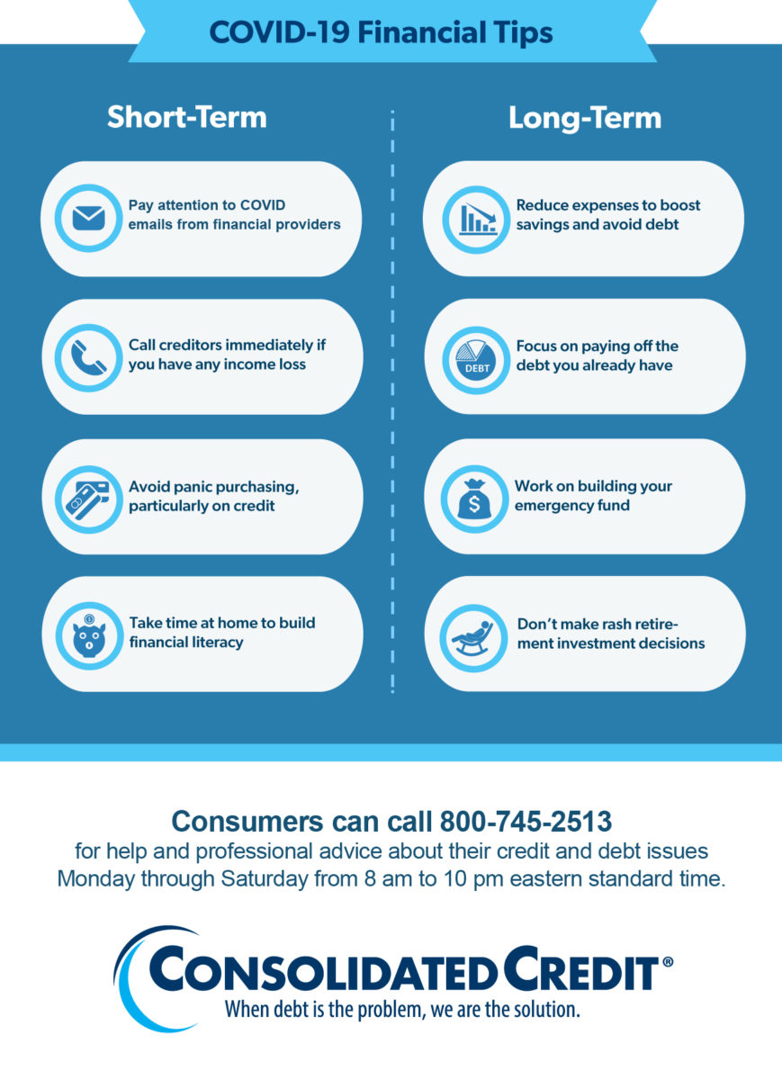 Consolidated Credit COVID-19 Financial Tips Infographic