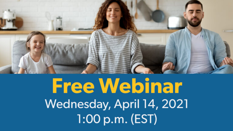 Free Webinar - Wednesday April 14, 2021, 1:00 p.m. (EST)