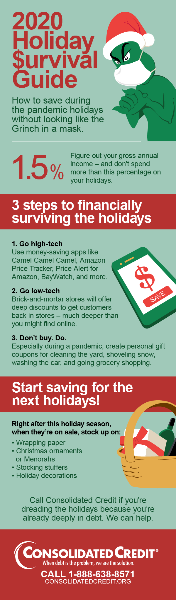 Holiday $urvival Guide Infographic