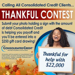 Thankful photo contest graphic with instructions