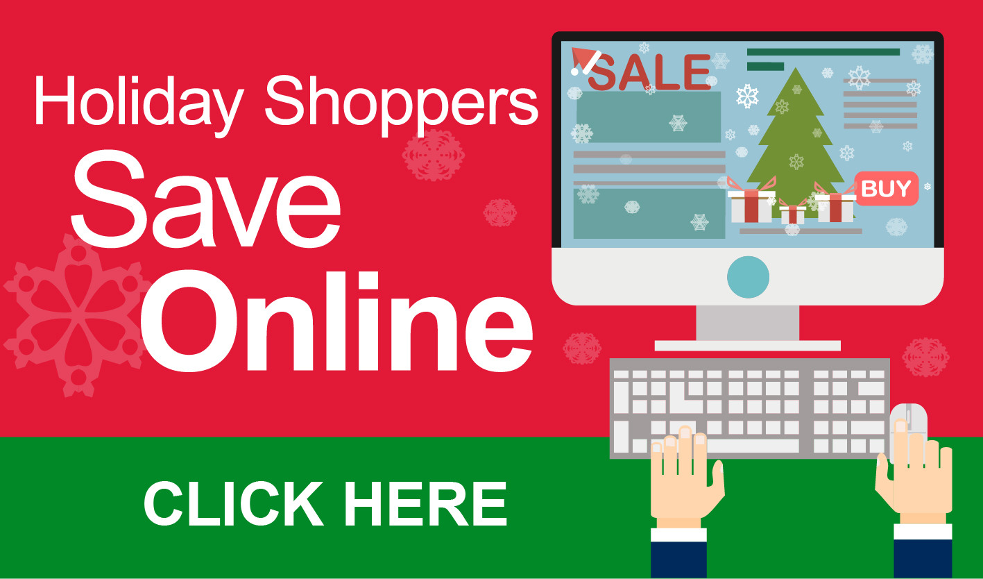 Click Here to Consolidated Credit's Holiday Shoppers Save Online Infographic