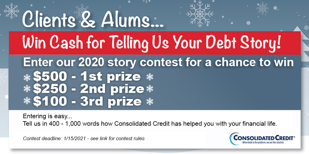 Clients & Alums... Win Cahs for Telling Us Your Debt Story!
