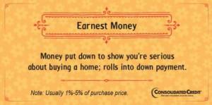 Earnest money financial literacy tip