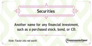 Securities financial literacy tip
