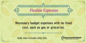Flexible expense financial literacy tip