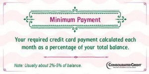 Minimum payment financial literacy tip
