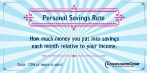 Personal savings rate financial literacy tip